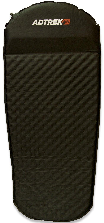 123cm x 52cm Adtrek Blue 3//4 Length Single Self Inflating Camping Mat Mattress With Pillow Carry Bag Included