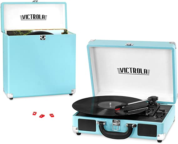 Victrola Record Player Bundle Includes a 3-Speed Turntable