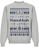 Love Hanukkah Sweater: Unisex Jerzees NuBlend Crewneck Sweatshirt