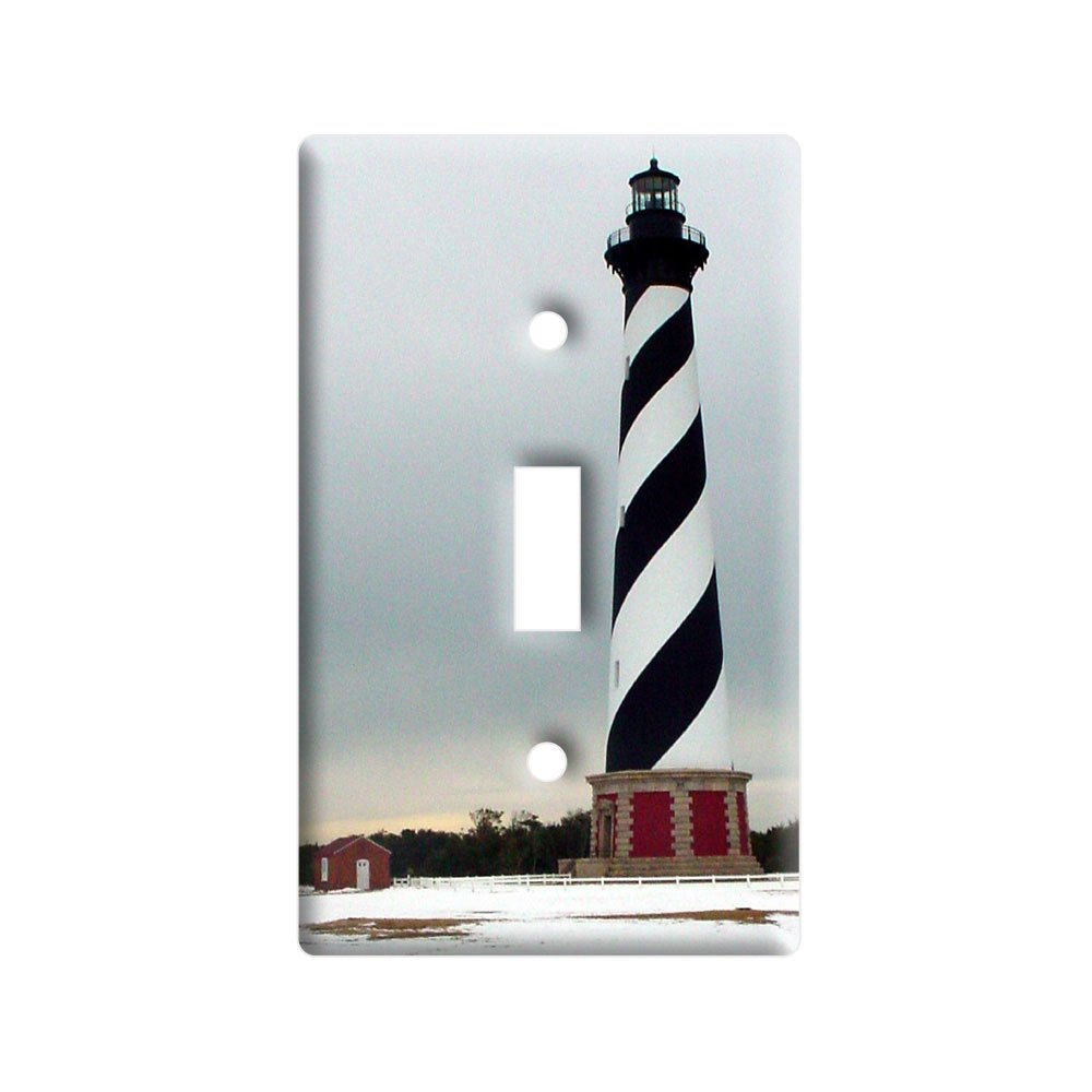Plastic Wall Light Covers : outlet Cape Hatteras Lighthouse Light House - Plastic Wall Decor Toggle Light Switch Plate Cover ...