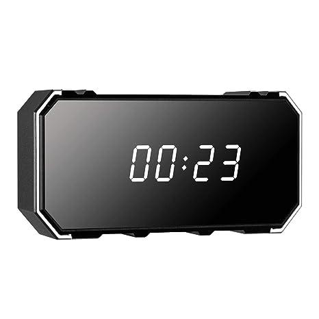 Reloj de cámara espía 4K UHD WiFi con detección de Movimiento y visión Nocturna activada Mini