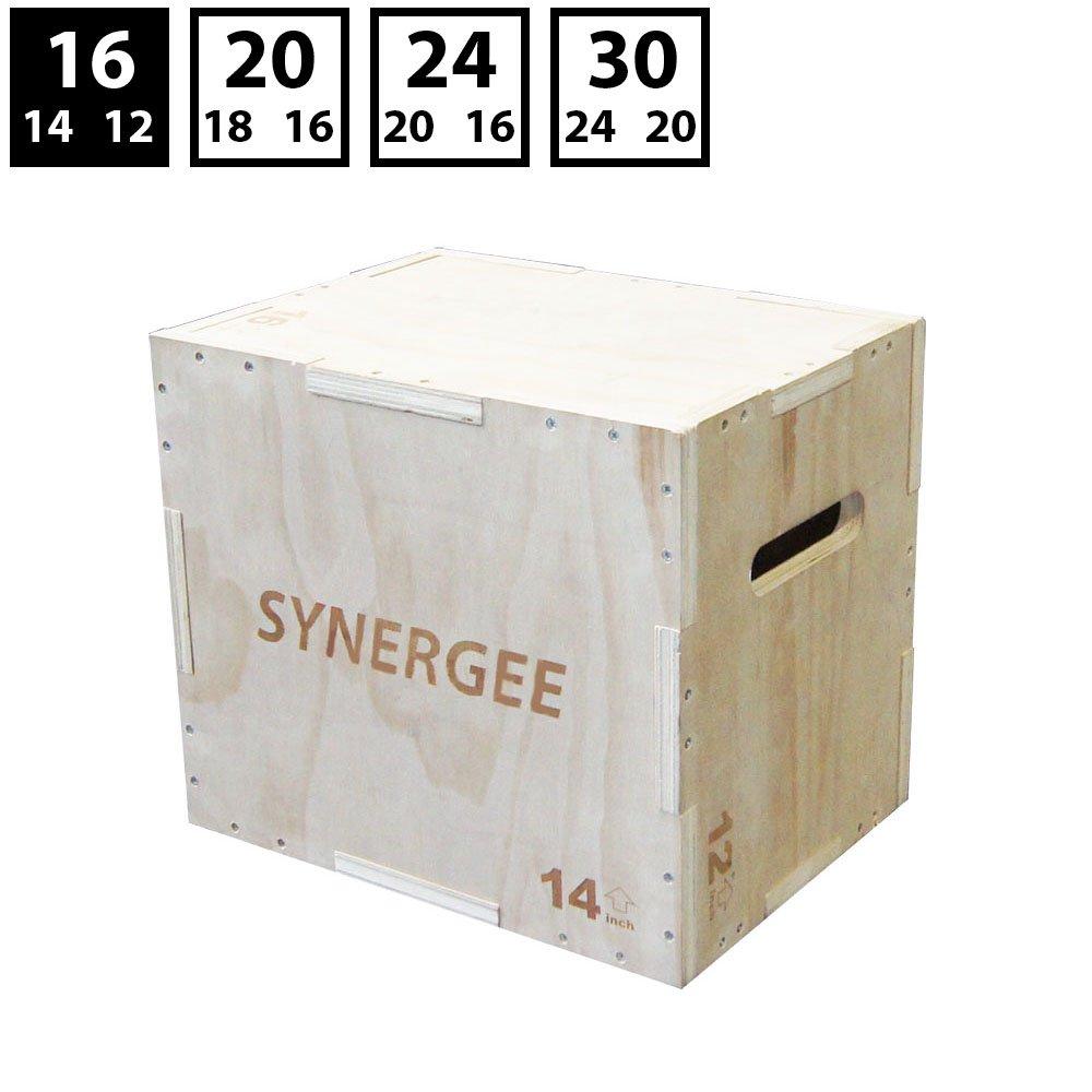 【売り切り御免!】 シナジー3 24 in 1木製Plyometricジャンプのトレーニングとコンディショニングのボックス。木製Plyoボックスすべて1つのジャンプトレーナー 16/14/12。サイズ30/ 24 12/ 20 , 24/ 20/ 16、20/ 18/ 16、16/ 14/ 12 B06ZYXMQHM 16/14/12 16/14/12, ツヅキグン:cca93002 --- arianechie.dominiotemporario.com