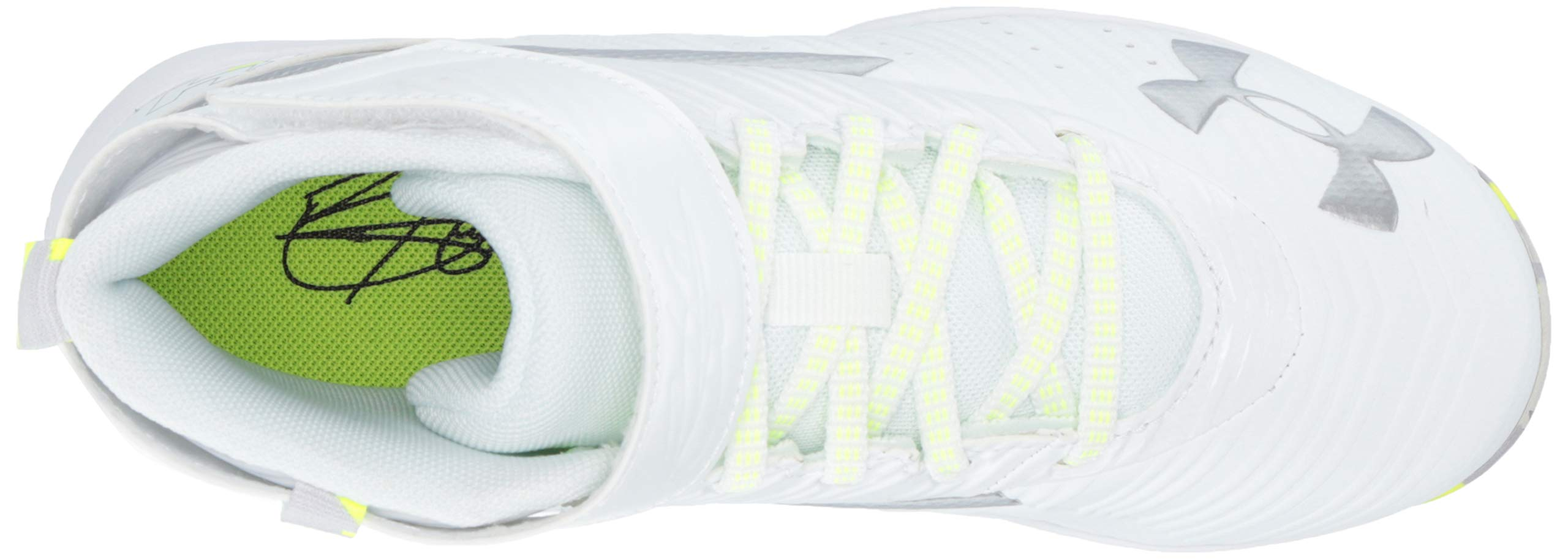 Under Armour Boys' Harper 3 Mid Jr. RM Baseball Shoe 100/White, 1 by Under Armour (Image #12)