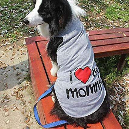 b2d95c950aa0 Veena New 2XL 9XL I Love My Daddy Big Dog Vest Summer for Large Dog Golden  Retriever Samoyed Big Dog Clothes Pink 5XL: Amazon.in: Pet Supplies
