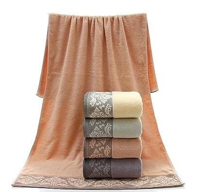 SZXC Plain Style Pattern Jacquard Algodón Buena Absorción Toalla de baño de lujo para parejas (