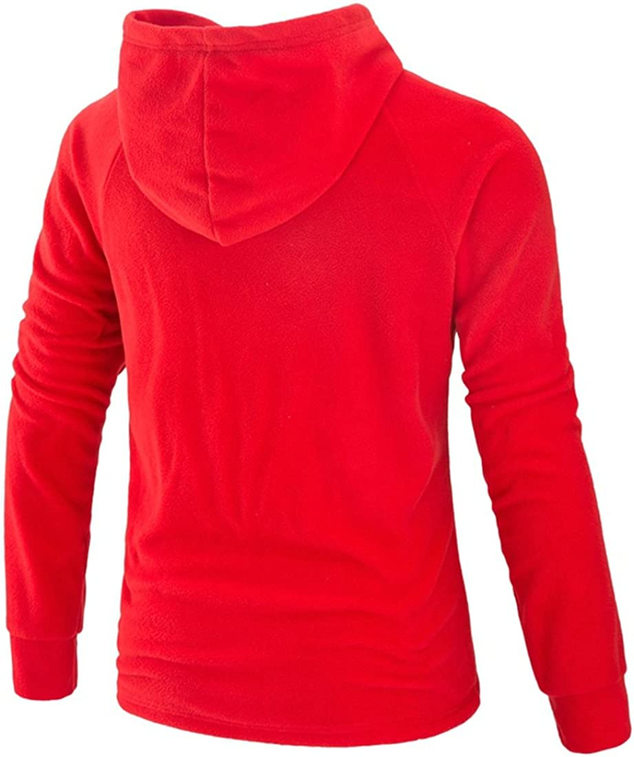 Ffox Mens Solid Hedging Casual Sports Hoodies Sweatshirts