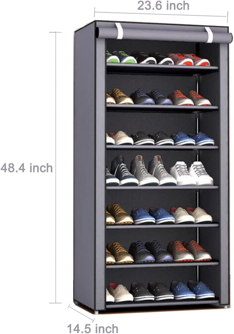 3-Tier Space Saving Storage Organizer Shoes Tower Rack Shoe Shelf Free Standing