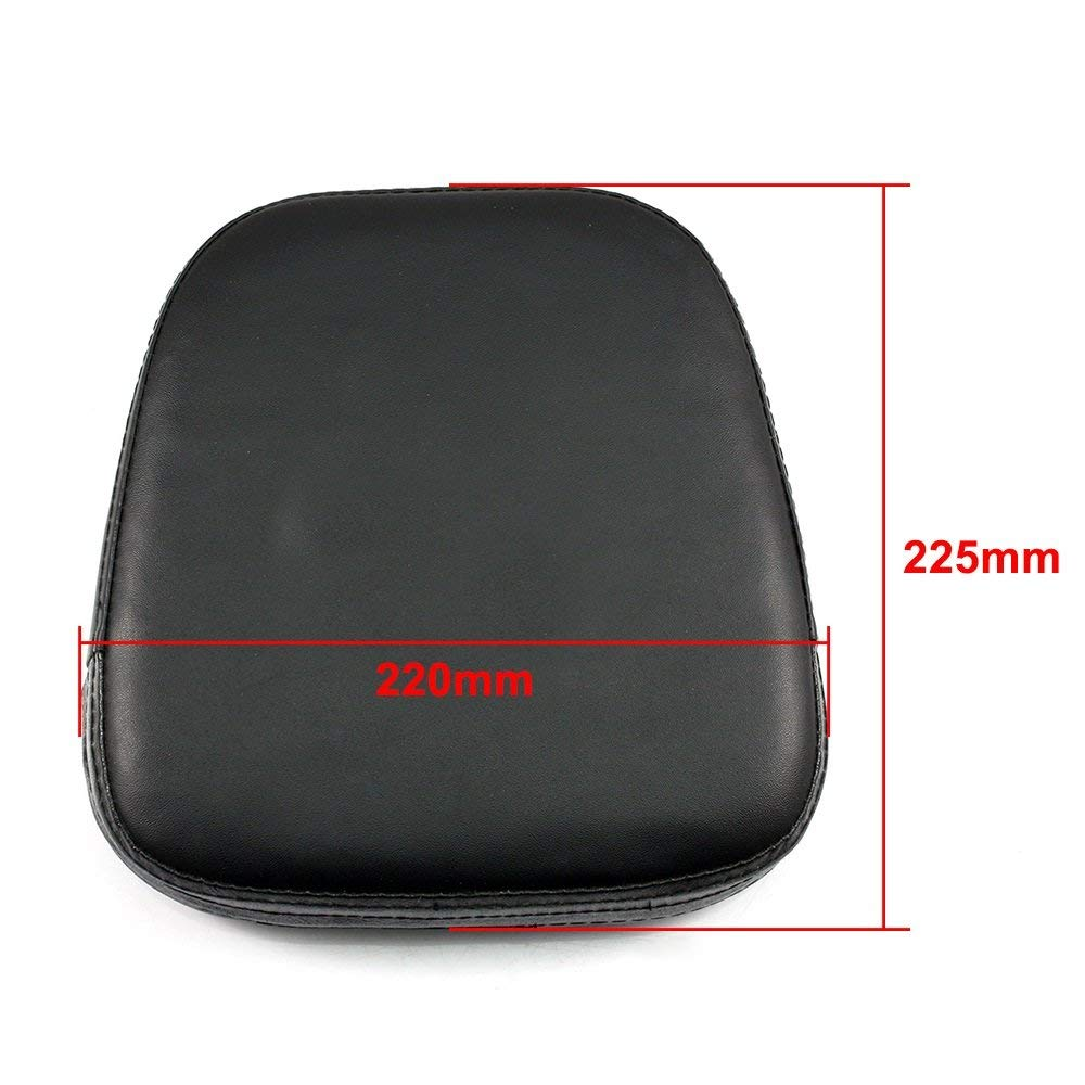 Motorcycles Black Passenger Sissy Bar Backrest Cushion Pad for Harley Sportster Dyna Softail Chopper Bobber Custom Cafer V-ROD Street Touring