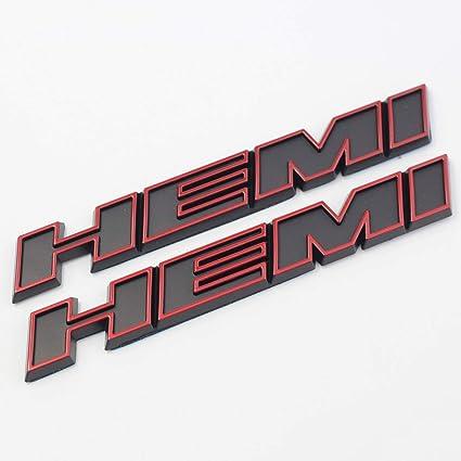 2pcs Black Color HEMI Emblem Decal Badge Sticker Dodge Charger RAM 1500 Challenger Jeep Grand Cherokee