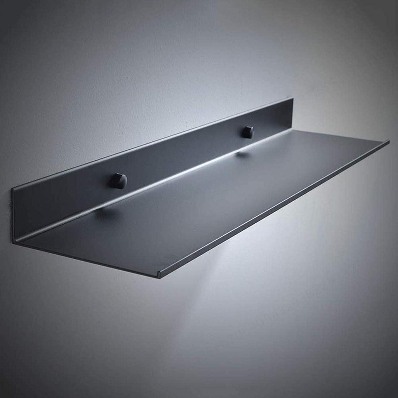 Negro 30 cm Extra Fuerte Ahorra Espacio estanter/ía Flotante Estanter/ía para Cuarto de ba/ño YUNB Soporte de Pared Inoxidable 30 cm