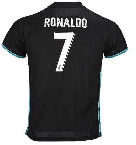 7 Ronaldo Real Madrid Third Kid Soccer Jersey   Matching Shorts Set 2016-17 1a3566b772e32