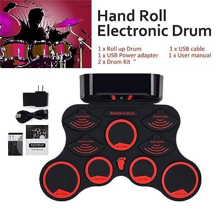 Amazon com - Telisii Roll-Up Drum Kit Portable Electronic