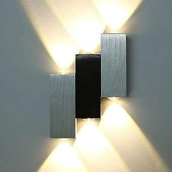 Led Wandleuchte Warmweiss 6w Up Down Effektlampe Innen Wandlampe
