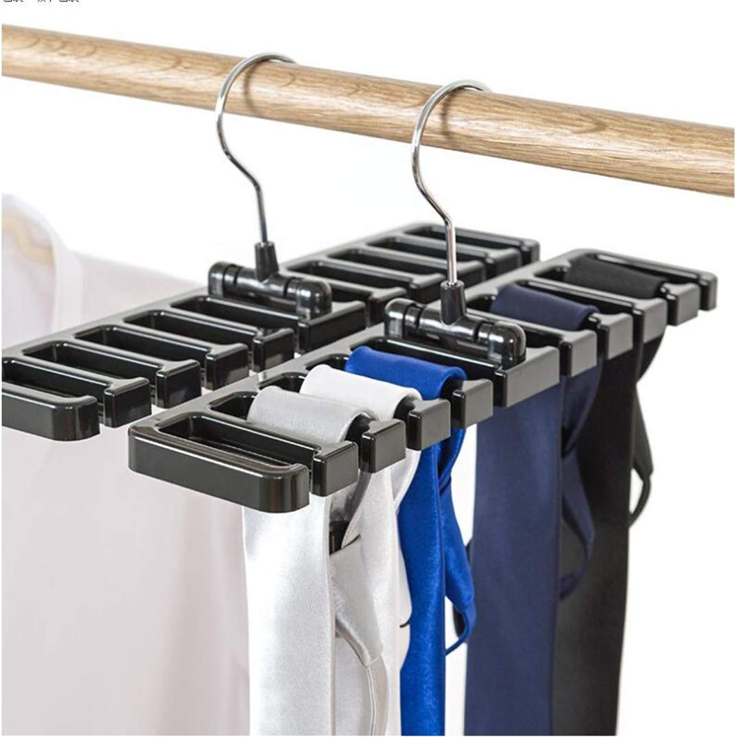 Tmrow 1Pc Living Black Belt Rack Stylish Belt Rack Hanger Organizer Holder