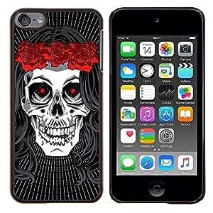 LECELL--Funda protectora / Cubierta / Piel For Apple iPod Touch 6 6th Touch6 -- La muerte de la novia de la guirnalda de la música rock metal --