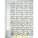 InterDesign Cityscape EVA Shower Curtain, 72-Inch by 72-Inch, Beep Beep