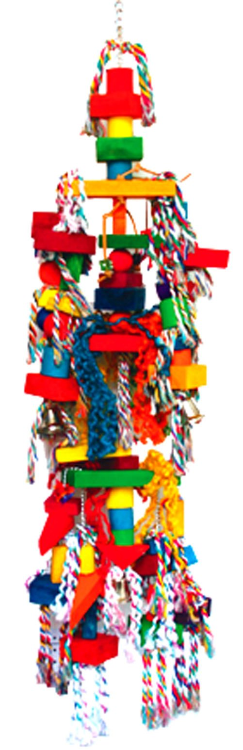1326 HugeTriangle Tower Parrot Bird Cage Toys Cages Toy Chew Macaw Cockatoo Big