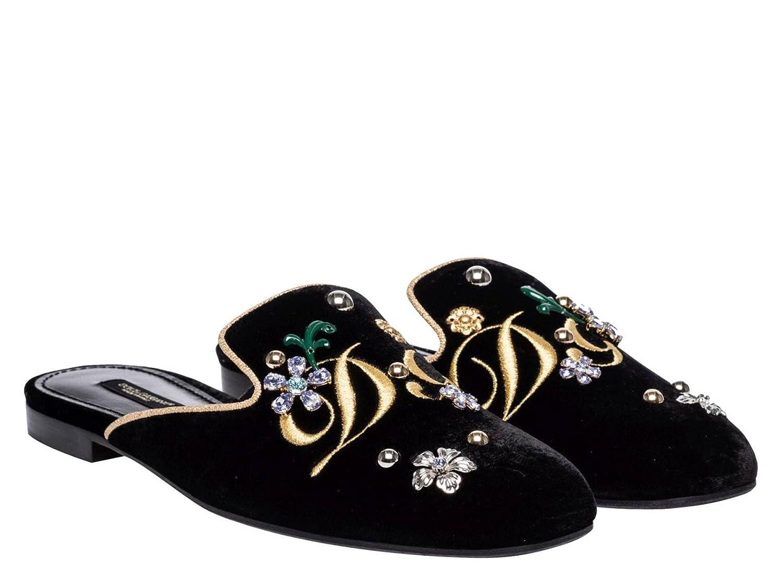 Dolce & Gabbana Noir Nu-Pieds Gabbana pour Femme en CI0007 Velours Noir - Code modèle: CI0007 AG948 89718 Noir 5388a50 - fast-weightloss-diet.space