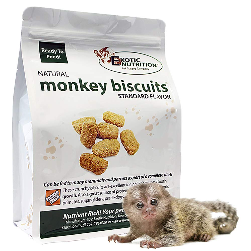 Monkey Biscuits (Standard, 10 lbs.) - Healthy & Crunchy Biscuit Treat for Prairie Dogs, Parrots, Squirrels, Sugar Gliders, Hamsters, Rats, Rodents, Amazons, Macaws, Cockatoos, Birds & Other Small Pets by Exotic Nutrition