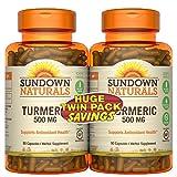 Cheap Sundown Naturals Turmeric 500mg 90 + 90 Twin Pack Herbal Supplements, 180 Count