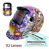 Proelectric Joker Print Professional Auto Darkening Solar Powered Welders Welding Helmet Mask With Grinding Function
