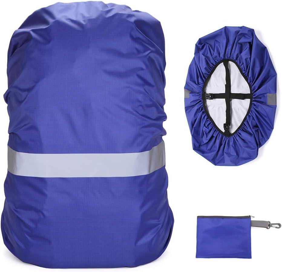 Lixada 20-100L Cubierta de Mochila con Tira Reflectante Mujer Hombre Bolsa Impermeable Cubierta de Lluvia para Ciclismo Camping Senderismo Monta/ñismo