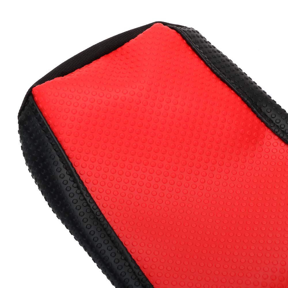 AnXin Red//Black Gripper Soft Motorcycle Seat Cover for Honda CR125 CR250 1997-1999