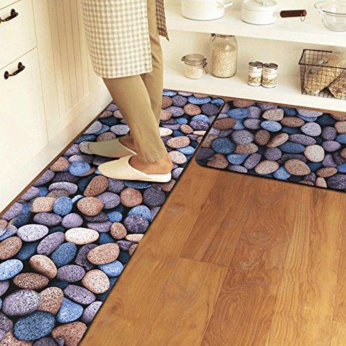 Shaggy Anti-skid Carpets Rugs Floor Mat/Cover 80x120cm Purple - 4