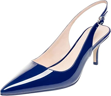 Gome-z Pointed Toe Navy Blue Patent