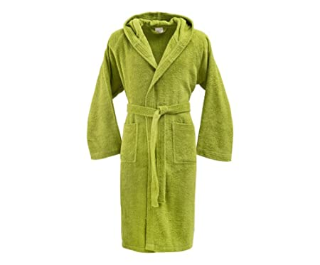 53e65d5a53 Bassetti Men s Women s Dressing Gown with Hood Size M Pure Cotton Sponge  370 gr m²  Amazon.co.uk  Kitchen   Home