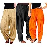 K's Creations Women's Cotton Patiala Salwar Combo (Free Size)