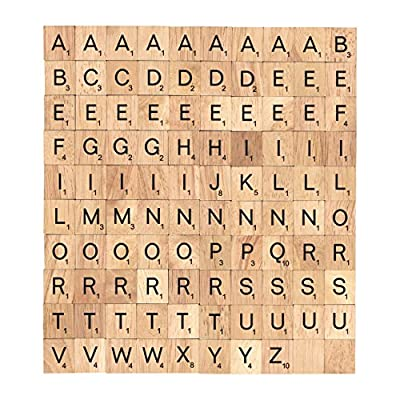 Scrabble Tiles Wood Craft Letters Word Tiles For Scrap booking 100 Pieces
