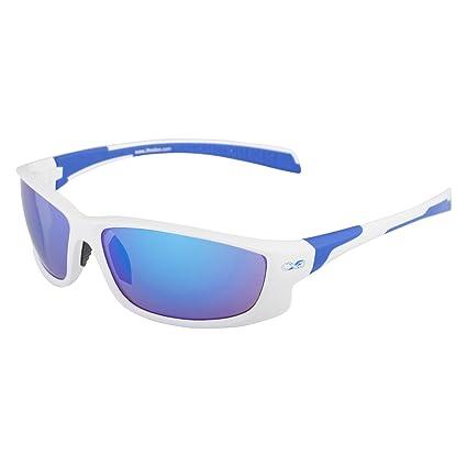 Infinite Eins - Gafas de Sol Deportivas Polarizadas y Ultraligeras Blancas y Azules con Protección UV400