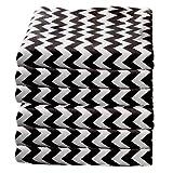 bkb Daycare 6 Piece Chevron Portable Crib Sheets, Black
