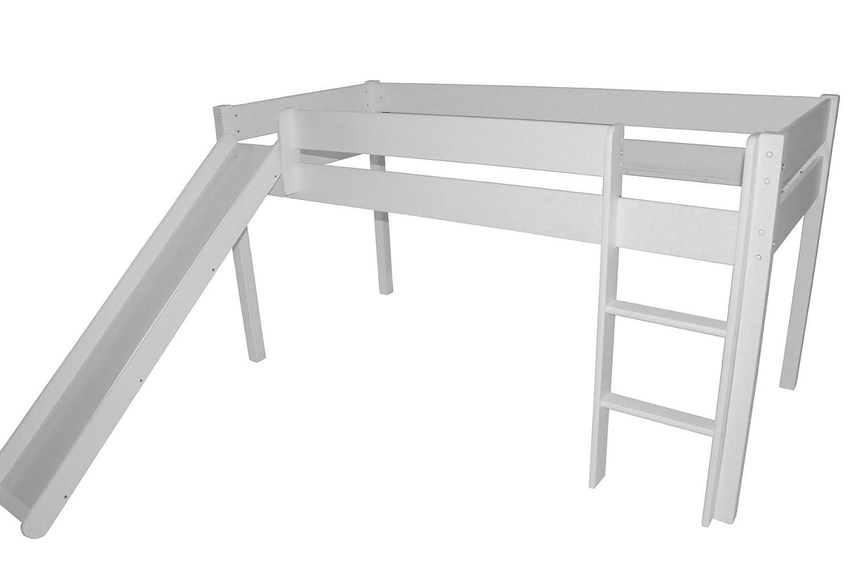 Kinderbett Jugendbett Mit Rutsche Hochbett Bett 90x200 Cm