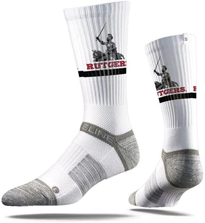 Rutgers University Knights Socks | Rutgers University | Strideline White