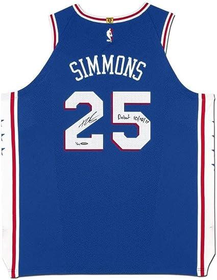 Ben Simmons Autographed & Inscribed Philadelphia 76ers Blue ...