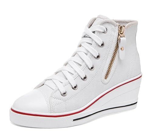 Chaussures à fermeture éclair Padgene rouges Sportives femme aSsEVMAF1E