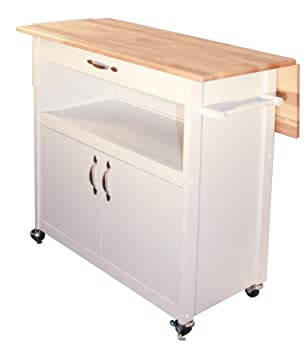 Amazoncom Catskill Craftsmen Drop Leaf Utility Cart Kitchen - Kitchen island with folding leaf