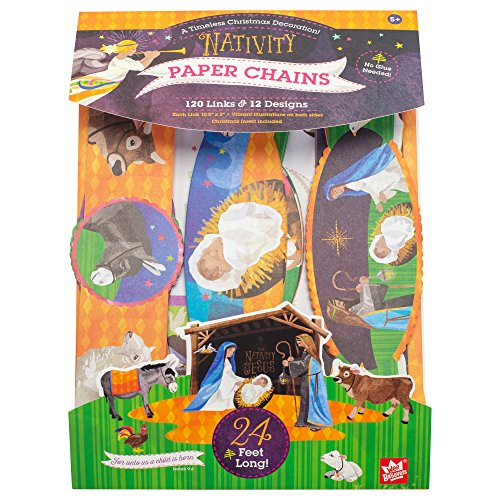 Wee Believers The Nativity of Jesus 24 Foot Paper Chain Christmas Decoration Activity Set