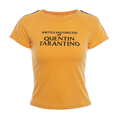 a0d8ed54c SuperCimi Women Summer Tees Written and Directed by Quentin Tarantino Short  Sleeve T Shirts: Amazon.co.uk: Clothing