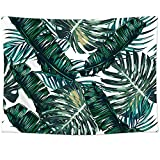 Sunm Boutique Tapestry Wall Hanging Palm Tree Leaves Tapestry Vintage Tapestry Wall Tapestry Micro Fiber Peach Home Decor
