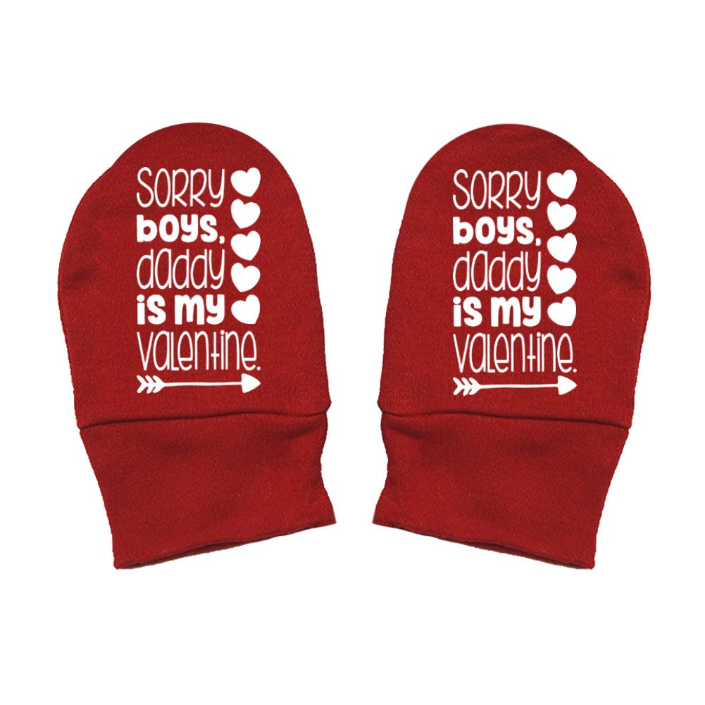 Thick /& Soft Baby Mittens Daddy Is My Valentine Sorry Boys Mashed Clothing Unisex-Baby Valentines Day Thick Premium