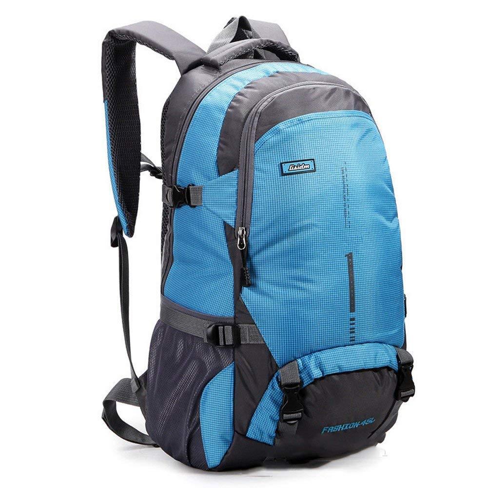 Lounayy Bergsteigen Outdoor Taschen Taschen Taschen Wasserdicht Camping Stylisch Wandern Mode Daypacks Rucksack Rucksack (Farbe   Blau, Größe   One Größe) B07MNRMR2Q Wanderruckscke Bestellungen sind willkommen d16047