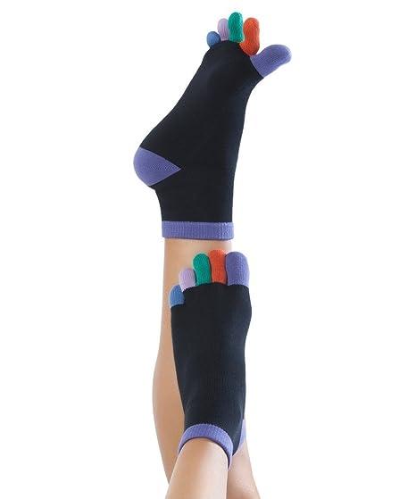 Knitido Rainbow Moods - Calcetines con dedos Arco Iris, tobillo alto, Talla:35