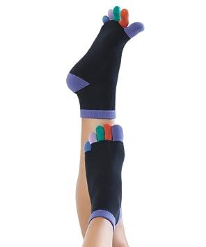 Knitido Rainbow Moods - Calcetines con dedos Arco Iris, tobillo alto: Amazon.es: Deportes y aire libre