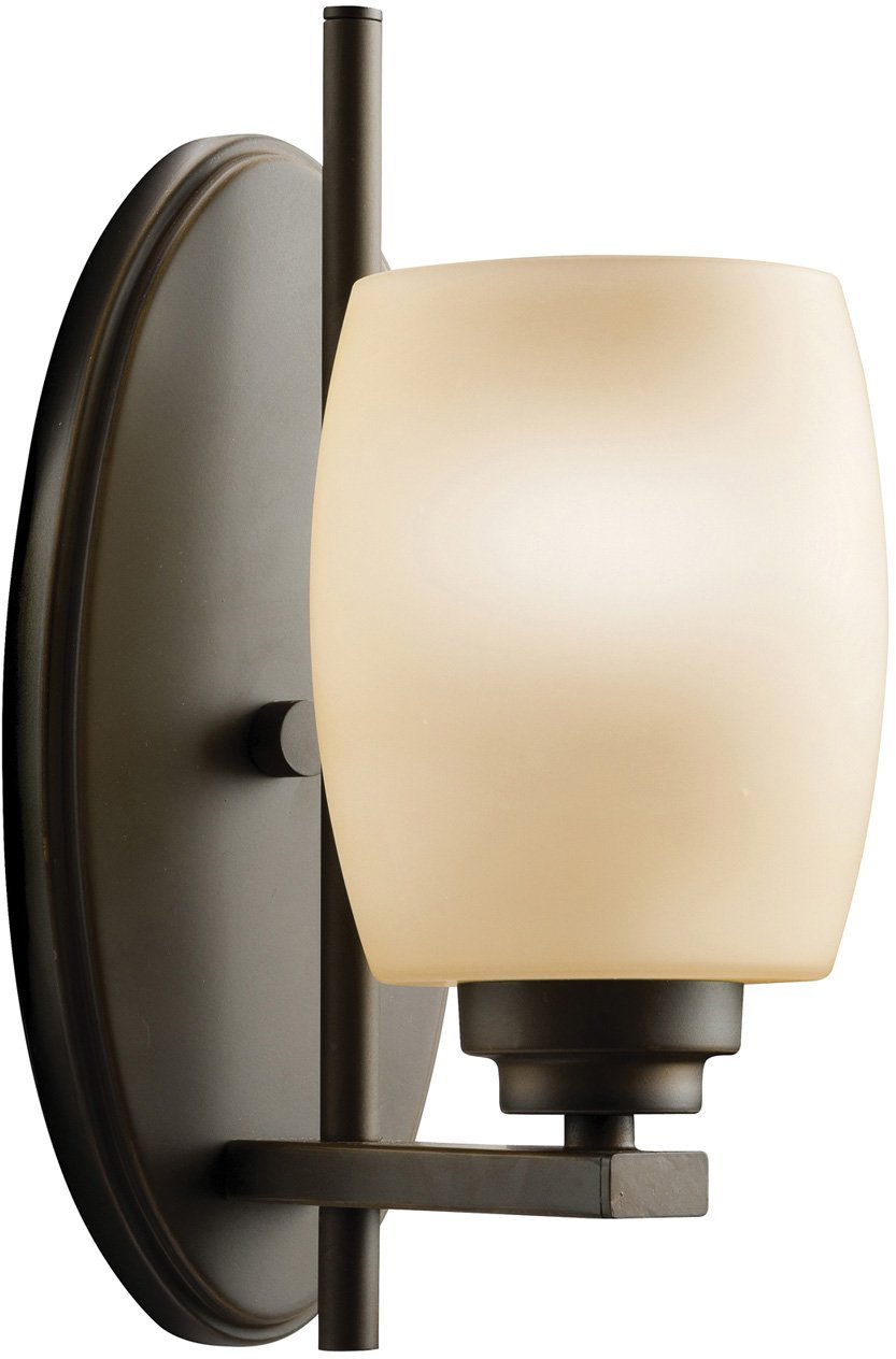 Kichler 5096OZ Bath Vanity Wall Lighting Wall Sconce, Bronze 1-Light (5'' W x 11'' H) 100 Watts