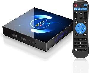 EstgoSZ Android 10.0 TV Box, QPLOVE 4GB+64GB Quad-core 4K/6K Smart TV Box, Support 2.4G/5G Dual WiFi/Bluetooth 5.0/3D/AV/HDR