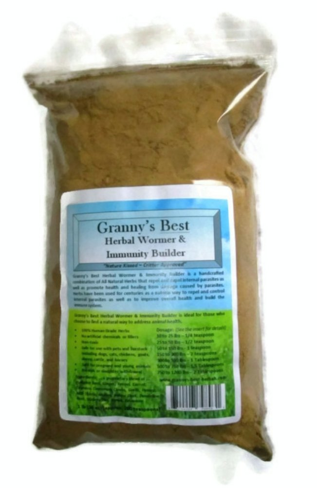 Granny's Best Herbal Wormer & Immunity Builder - A Natural Way to Build Animal Health with a Handcrafted Proprietary Blend of Herbs that Repel and Expel Internal Parasites and Build the Immune System 8 oz by Granny's Best Herbals