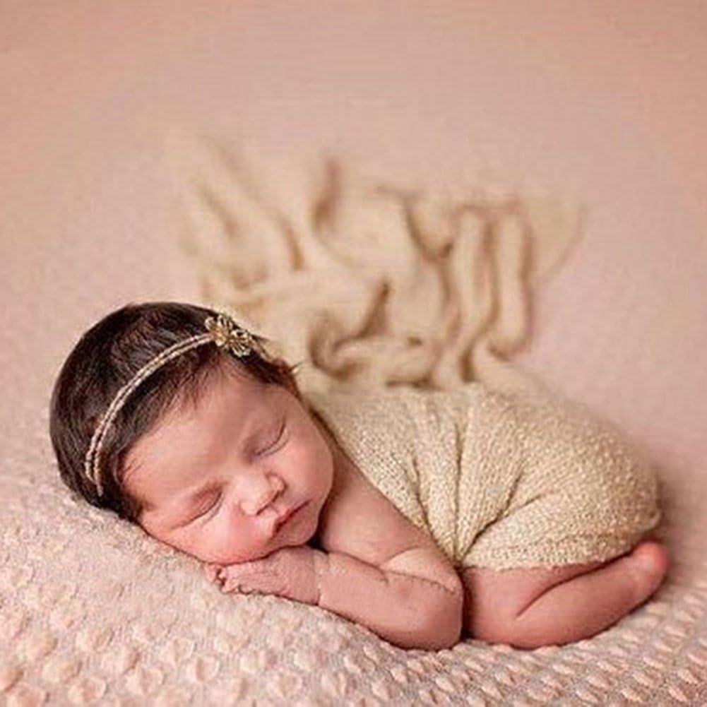 Butterme Neugeborene Baby-Fotografie St/ützen Lange Ripple Wrap Decke DIY Baby Foto Prop